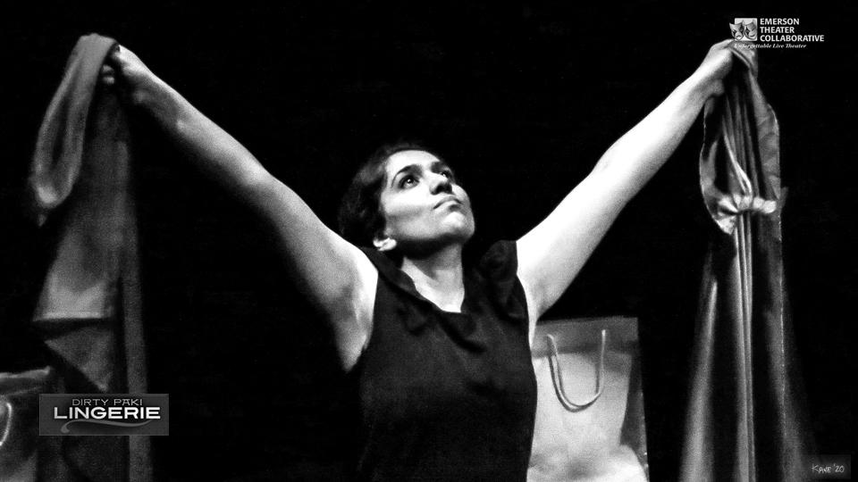 Aizzah Fatima in Dirty Paki Lingerie Rejoicing Arms overhead