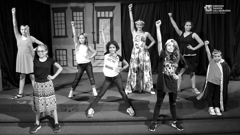 Summer Youth Theatre Camp kids on stage